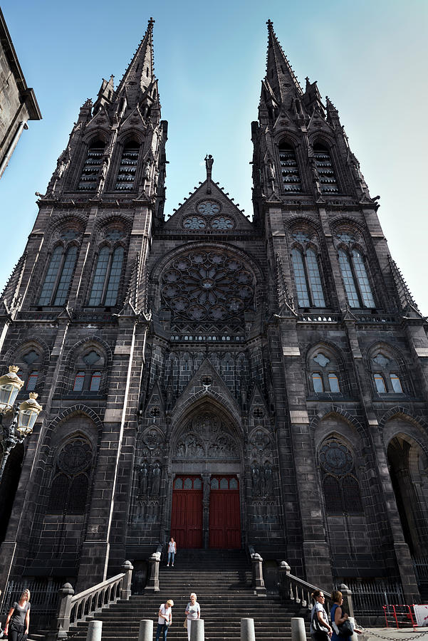 Clermont-Ferrand Cathedral western front by RicardMN Photography
