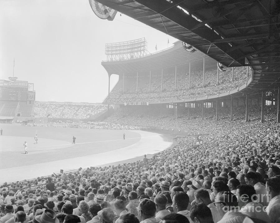 Cleveland Baseball Stadium Photograph by Bettmann