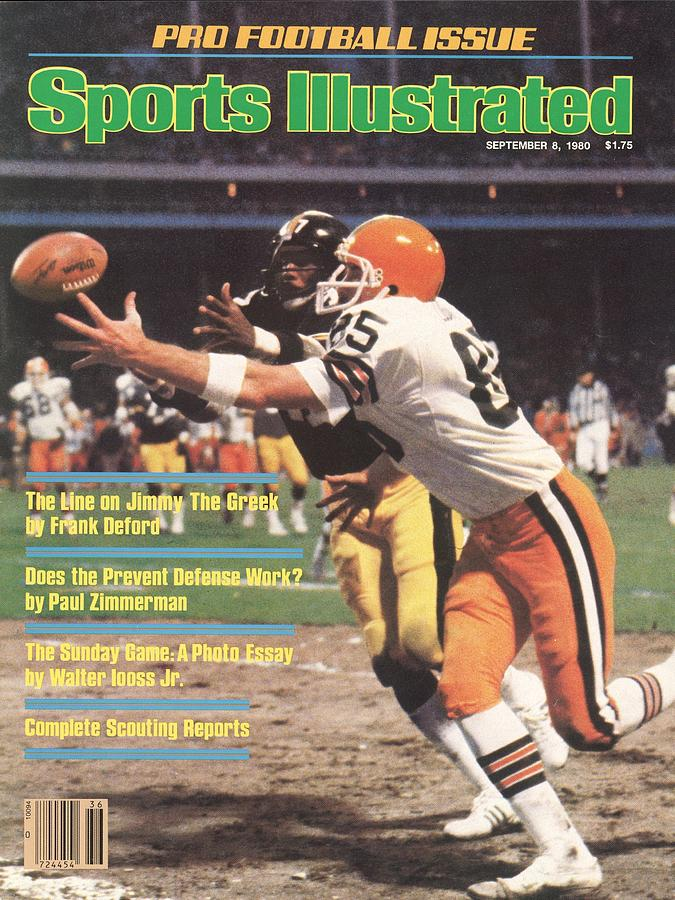 Cleveland Browns Dave Logan And Pittsburgh Steelers Mel Sports Illustrated Cover Photograph by Sports Illustrated