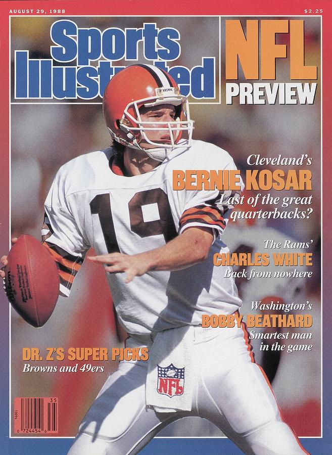 Cleveland Browns Qb Bernie Kosar, 1988 Nfl Football Preview Sports Illustrated Cover Photograph by Sports Illustrated