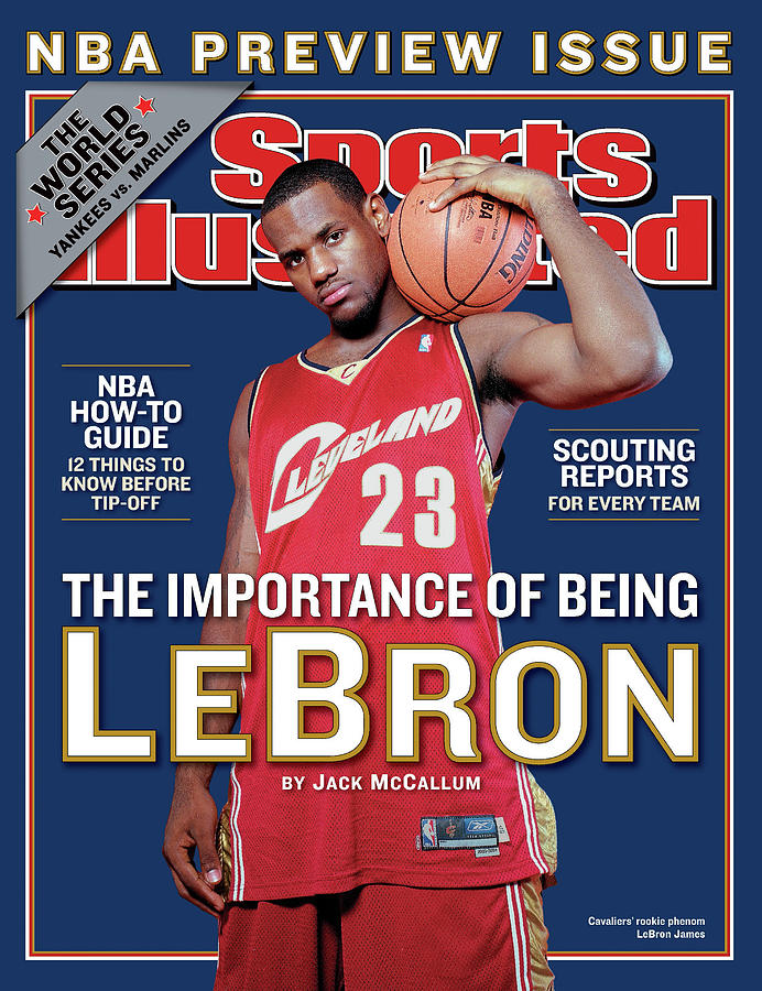 Cleveland Cavaliers LeBron James, 2003-04 Nba Basketball Sports Illustrated Cover Photograph by Sports Illustrated