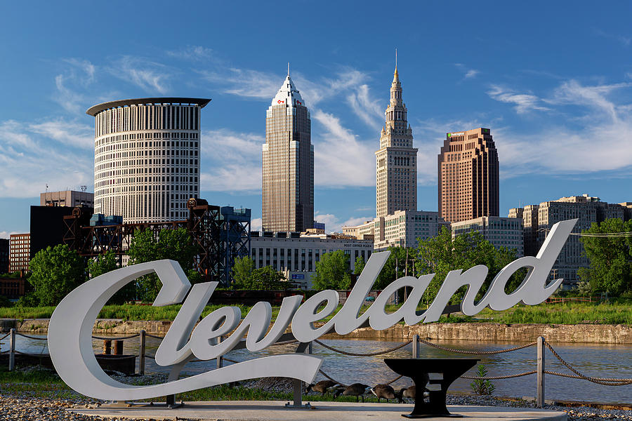 Cleveland Foundry Script Sign by Dale Kincaid