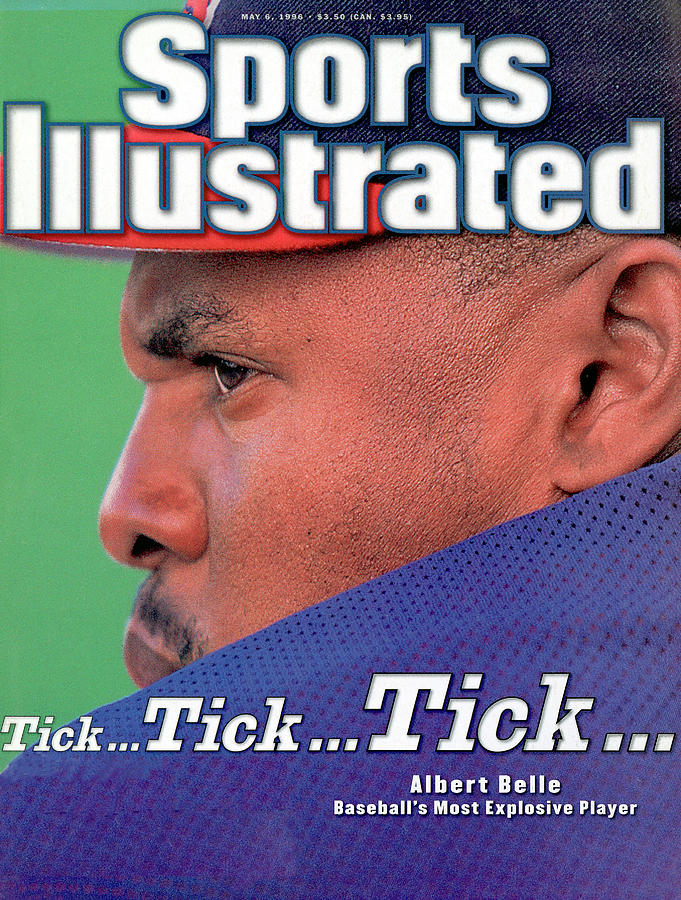 Cleveland Indians Albert Belle Sports Illustrated Cover Photograph by Sports Illustrated