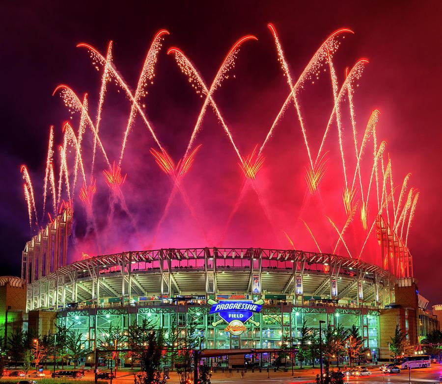 Cleveland Indians Fireworks by Richard Kopchock