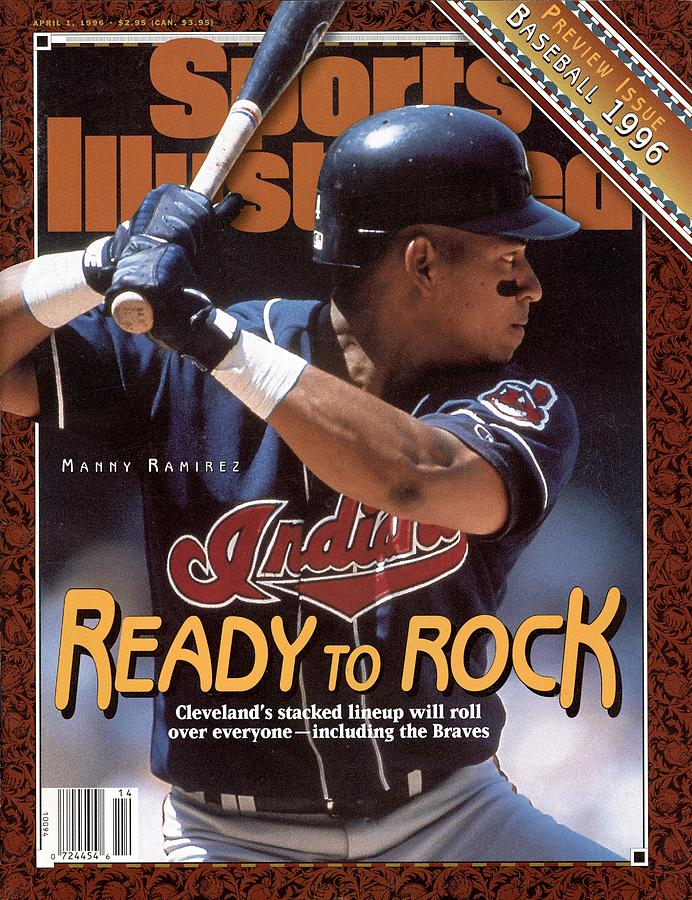 Cleveland Indians Manny Ramirez, 1996 Mlb Baseball Preview Sports Illustrated Cover Photograph by Sports Illustrated