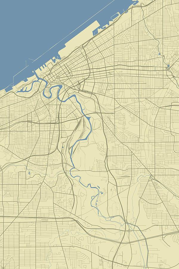 Cleveland Ohio Usa Clic Map by Jurq Studio on albuquerque usa map, minneapolis usa map, indiana usa map, detroit usa map, allentown usa map, cheyenne usa map, denver usa map, independence usa map, franklin usa map, wichita usa map, cincinnati usa map, anchorage usa map, columbia usa map, buffalo usa map, south bend usa map, atlanta usa map, tucson usa map, baltimore usa map, toledo usa map, lexington usa map,