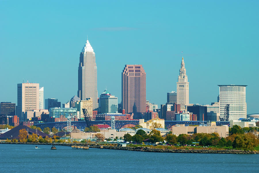 Cleveland Skyline And Lake Erie Photograph by Davel5957