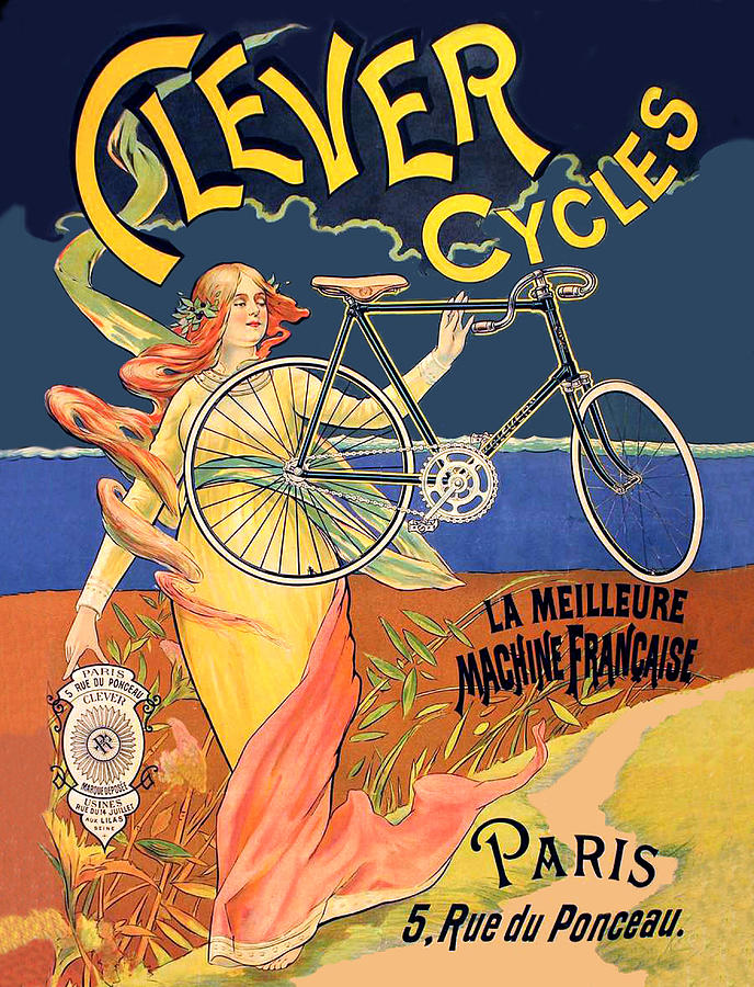 Bicycle Digital Art - Clever Cycles by Long Shot