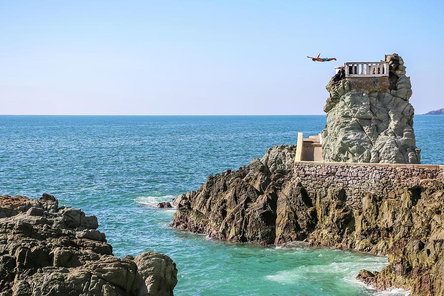 Cliff Diver of Mazatlan by Dawn Richards