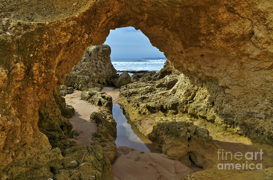 Cliff formations in Sao Lourenco Beach by Angelo DeVal