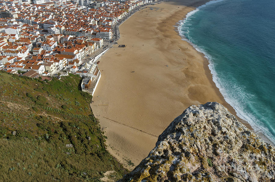 Cliff of Dom Fuas de Roupinho in Nazare by Angelo DeVal