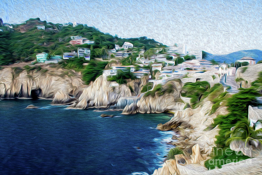 Cliffs in Acapulco Mexico I Digital Art by Kenneth Montgomery