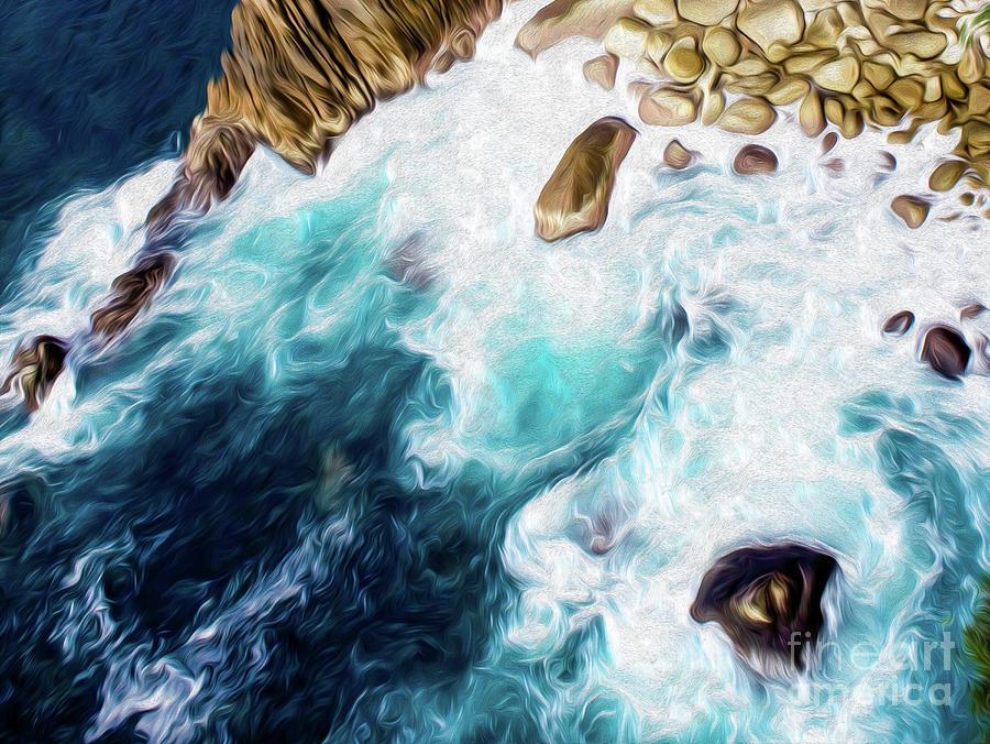 Cliffs In Acapulco Mexico II Digital Art by Kenneth Montgomery