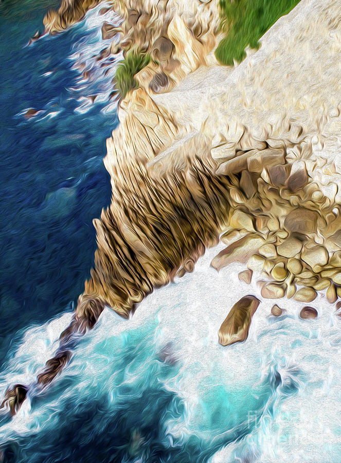 Cliffs In Acapulco Mexico Ill Digital Art by Kenneth Montgomery