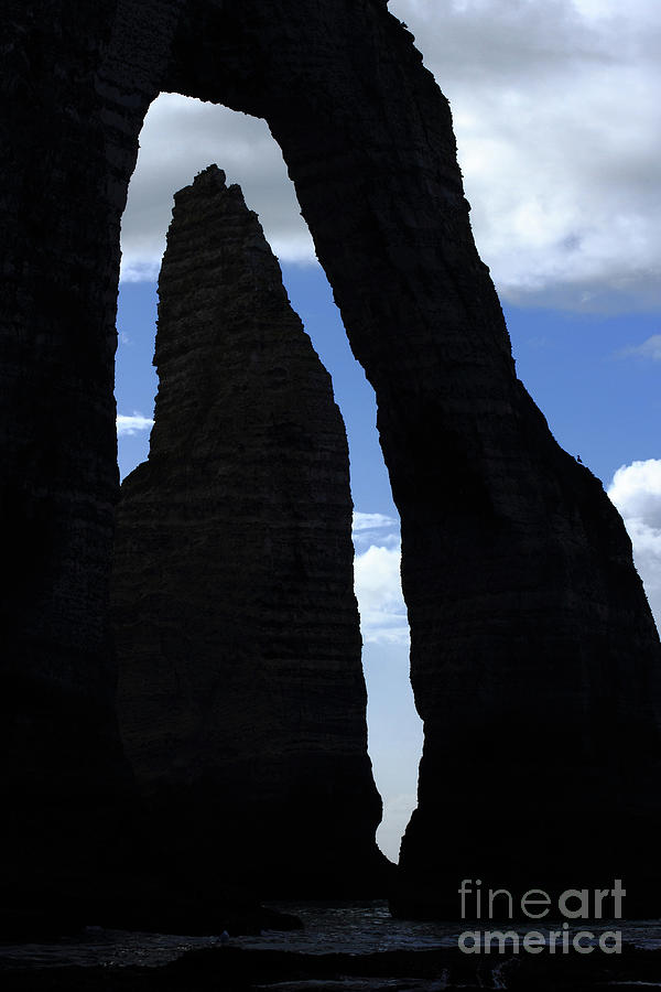 Cliffs Of Etretat, Downstream Arch And Hollow Needle, Upper Normandy by French School