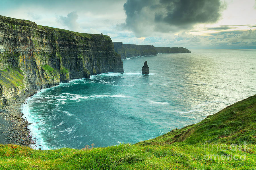 Big Photograph - Cliffs Of Moher At Sunset, Co. Clare by Kwiatek7