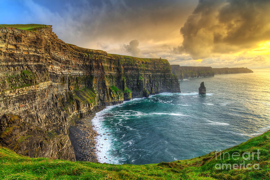Big Photograph - Cliffs Of Moher At Sunset, Co. Clare by Patryk Kosmider