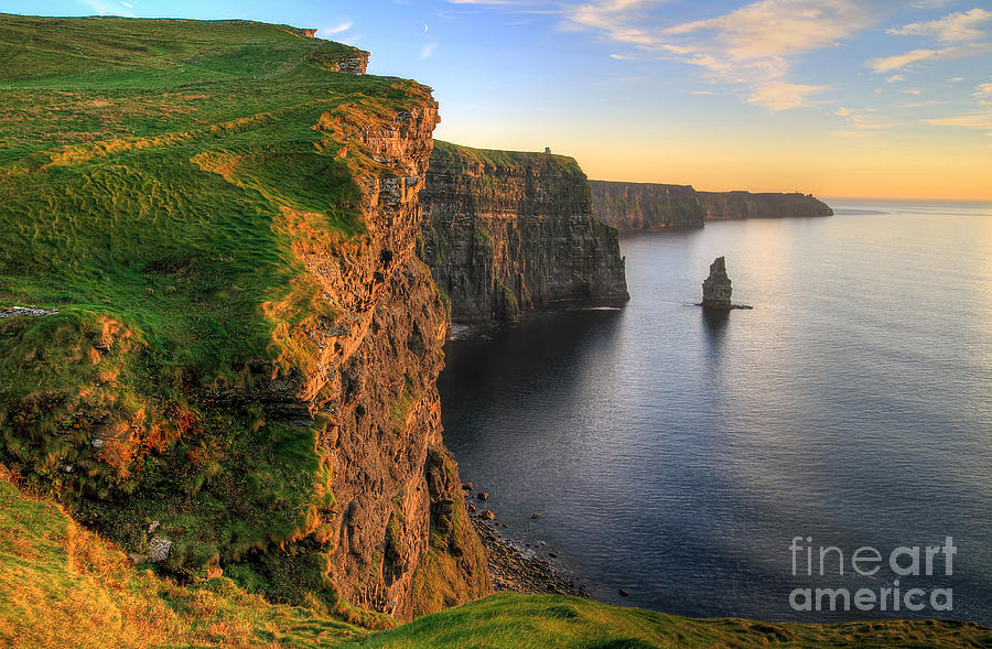 Big Photograph - Cliffs Of Moher At Sunset - Ireland by Patryk Kosmider