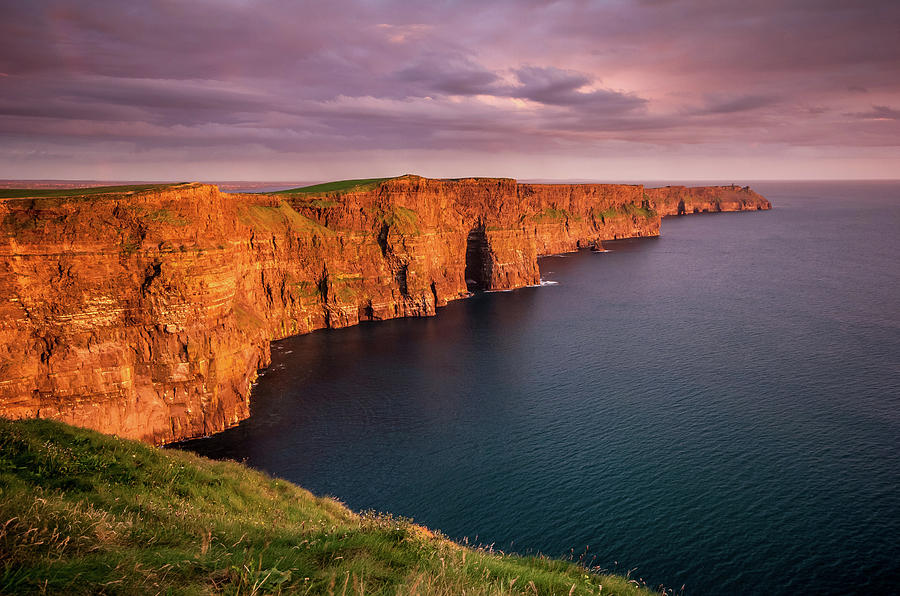 Cliffs Of Moher, Ireland At Sunset Photograph by Pierre Leclerc Photography