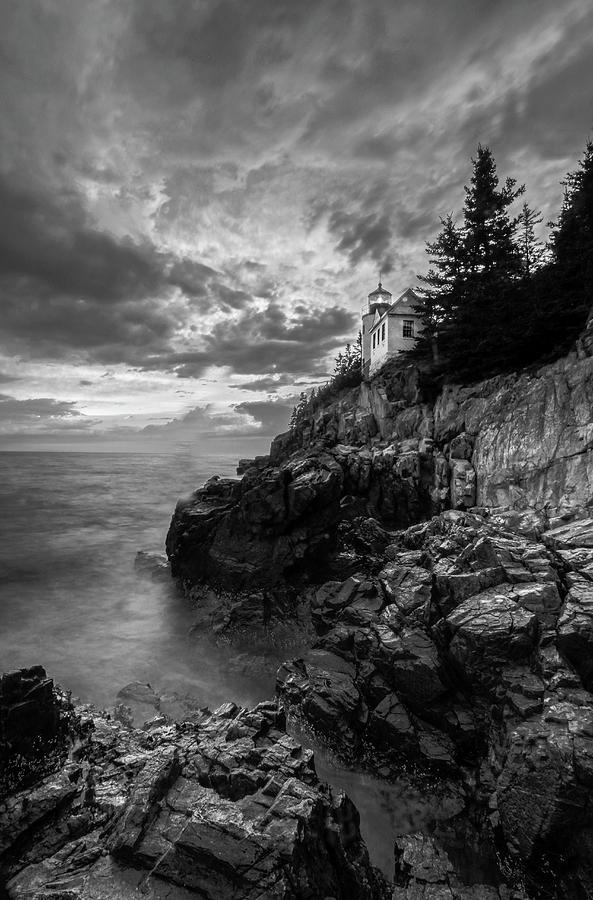 Cliffside Bass Harbor Head Lighthouse by Juergen Roth