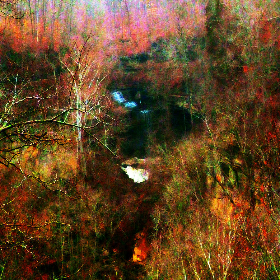 Clifty Falls Abstract Impressionism Squared by Michael McBrayer