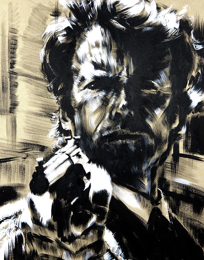 Movies Drawing - Clint by Cali West