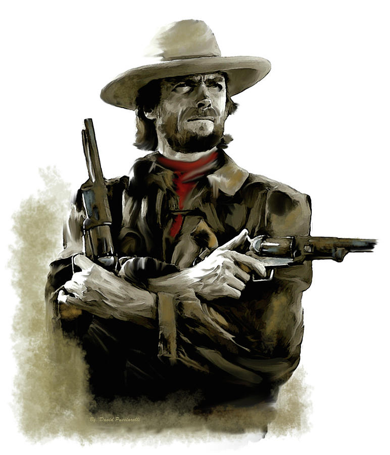Clint Eastwood AMERICAN OUTLAW by Iconic Images Art Gallery David Pucciarelli
