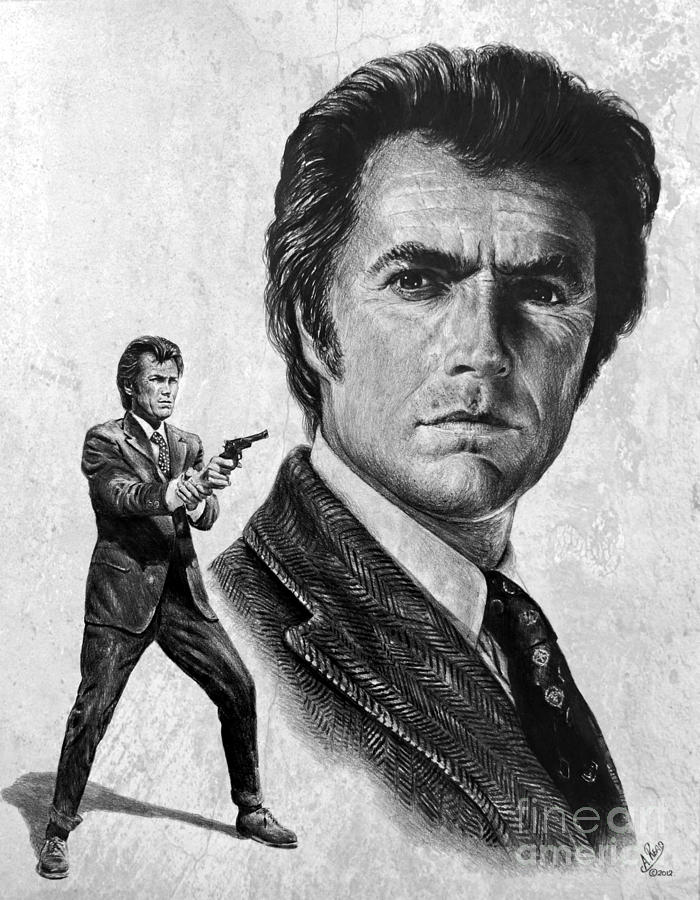 Clint Eastwood Is Dirty Harry Drawing By Andrew Read
