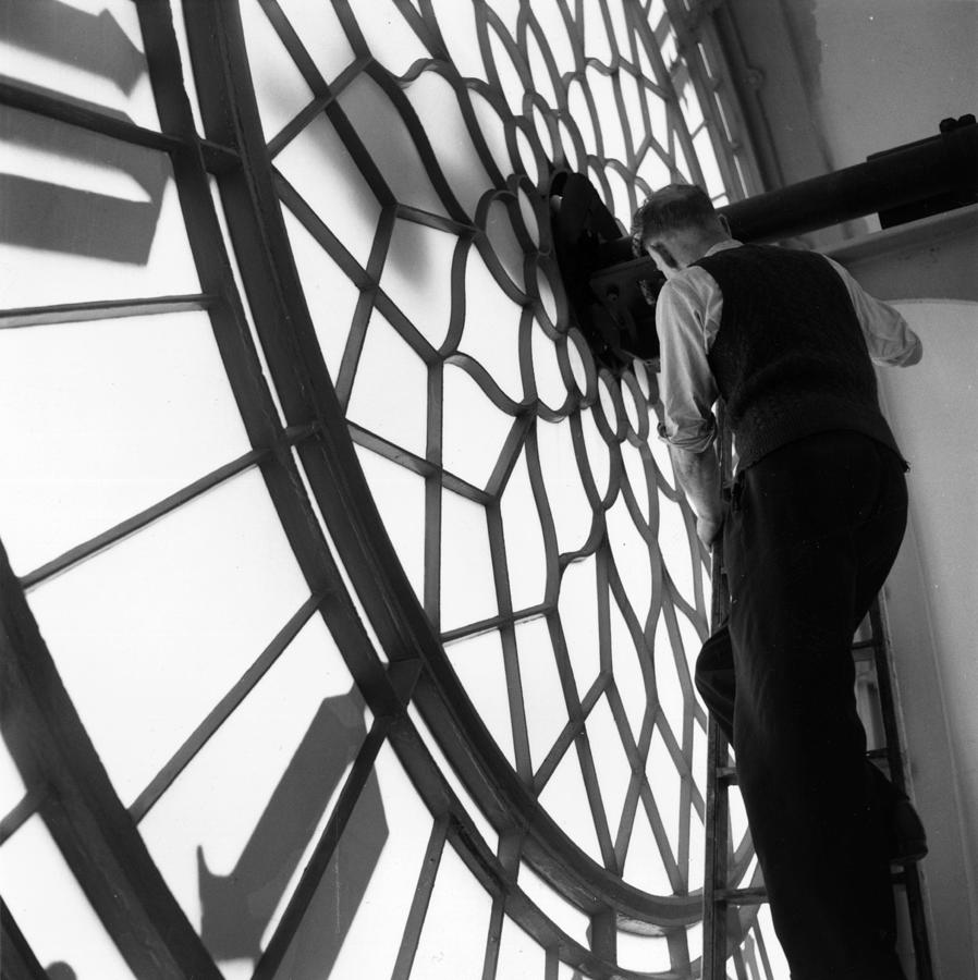 Clock Inspection Photograph by Frank Martin