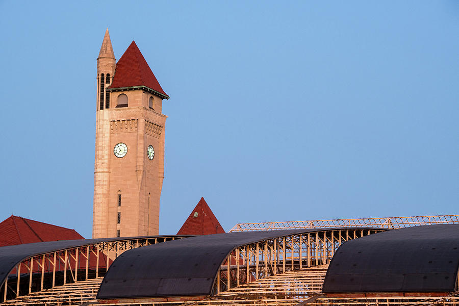 Clock Tower at Union Station by Steve Stuller
