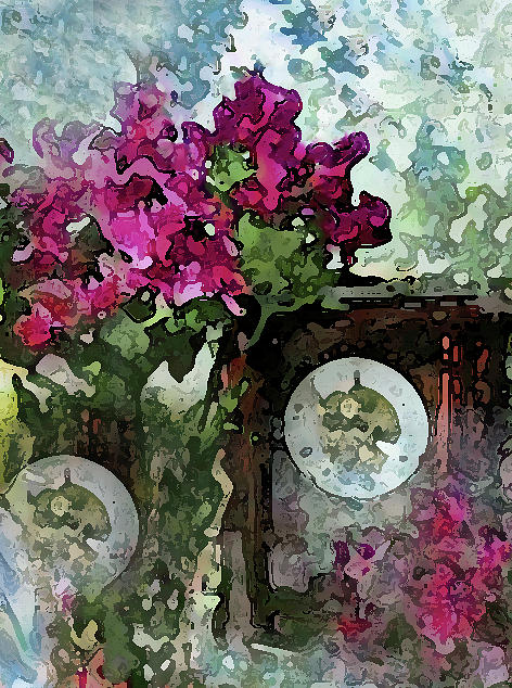 Clocks and Flowers by Corinne Carroll