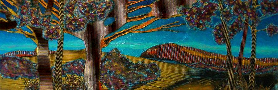 Cloisonne Blue Sky #1 by Carla Carlson