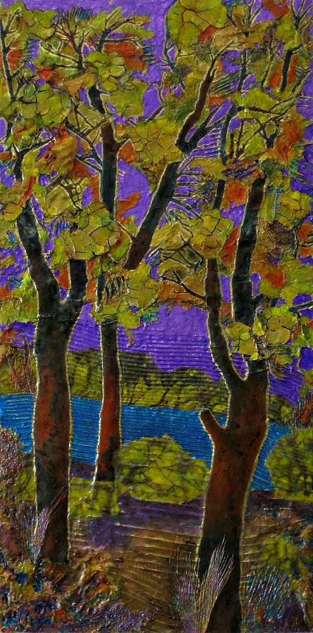 Cloisonne Purple Sky #1 by Carla Carlson