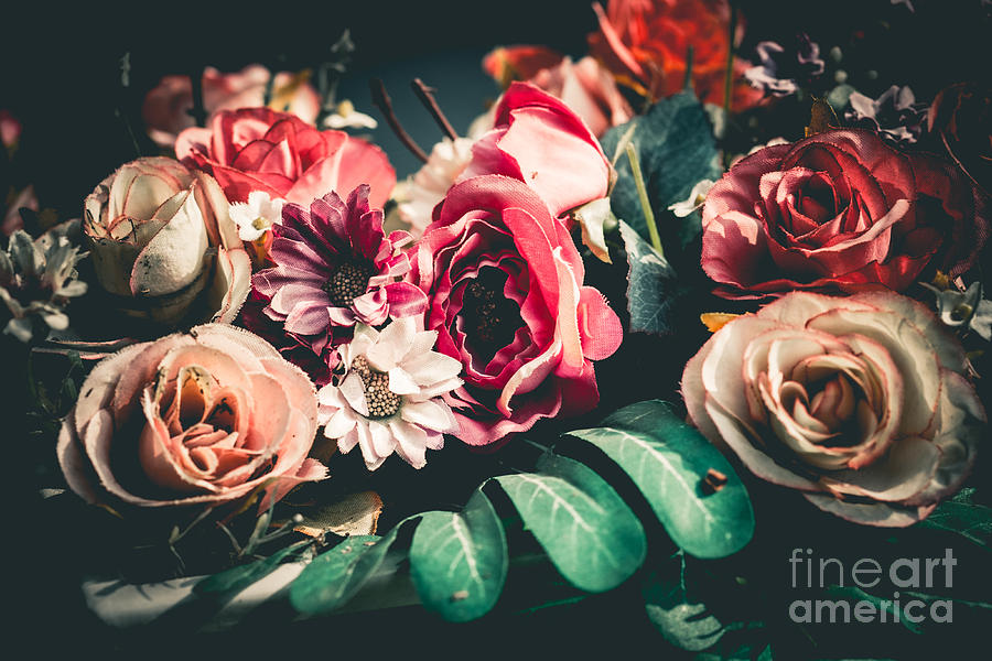 Gift Photograph - Close Up Colorful Bunch Of Beautiful by Narongchaihlaw