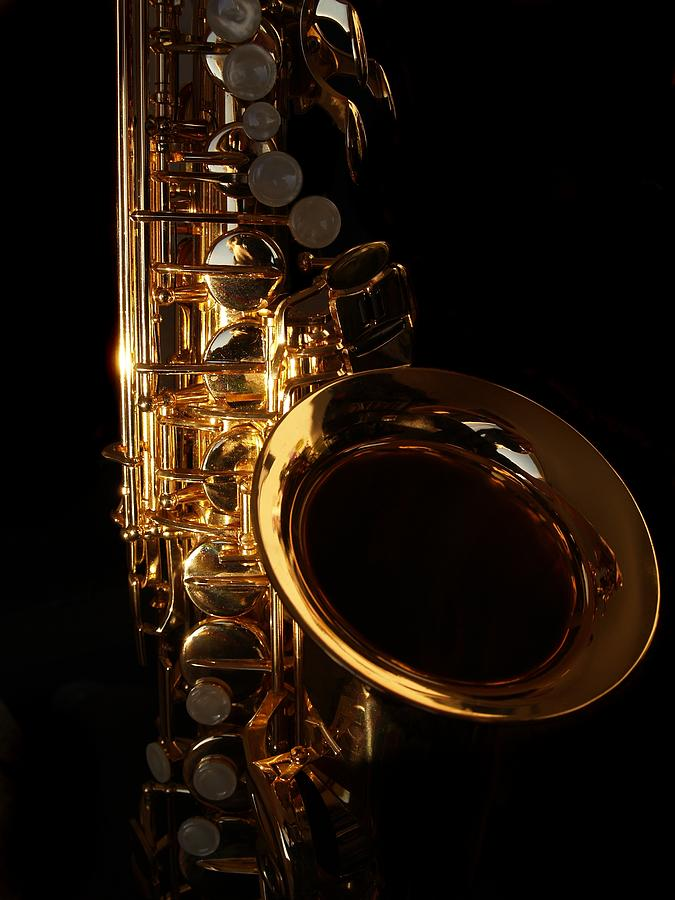 Close-up Of A Golden Saxophone On A Photograph by Kolgt
