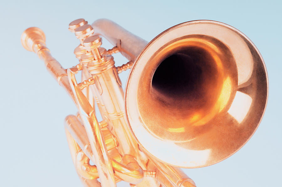 Close-up Of A Trumpet Photograph by Photosindia