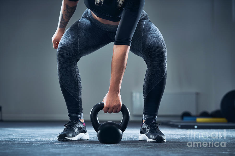 Close-up Of Athletic Woman Exercising Photograph by Westend61