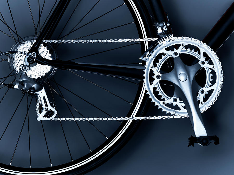 Close Up Of Bicycle Chain, Pedal And Photograph by Adam Gault