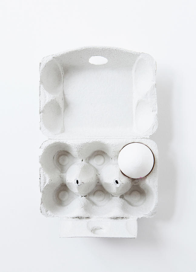 Close Up Of Egg In Carton Photograph by Cultura Rm Exclusive/line Klein