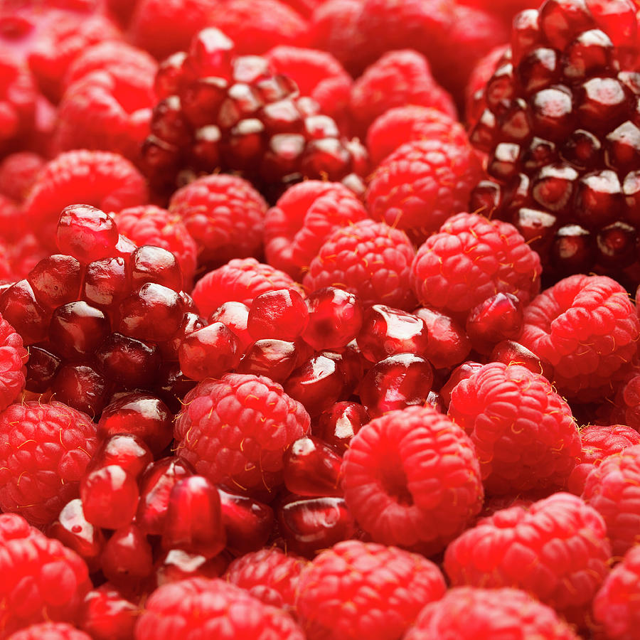 Close Up Of Fresh Raspberries And Photograph by Andrew Bret Wallis