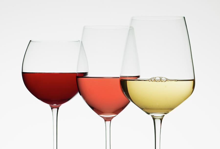 Close Up Of Glasses Of Different Wines Photograph by Tetra Images
