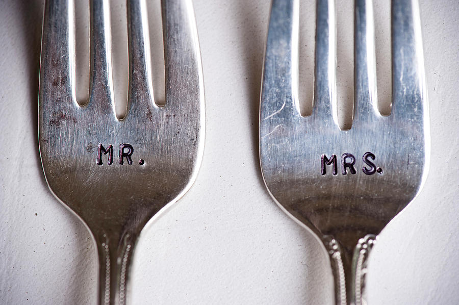 Close-up Of Mr. And Mrs. Forks At Photograph by Ikonica