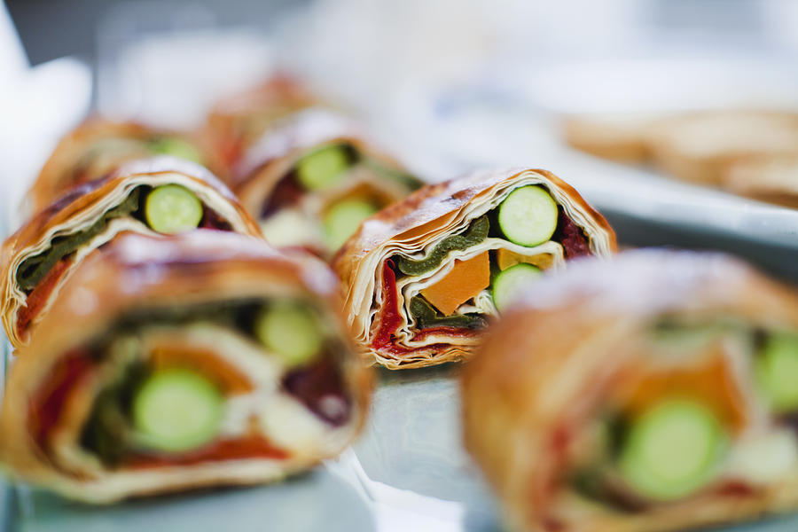 Close Up Of Sandwich Rolls For Sale Photograph by Hybrid Images