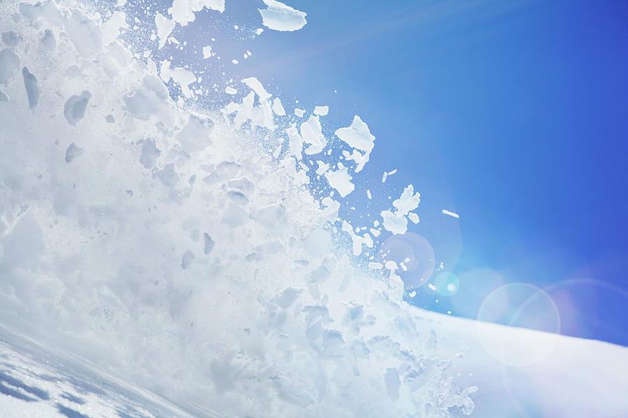 Close Up Of Snow Covered Hill With Photograph by Moof