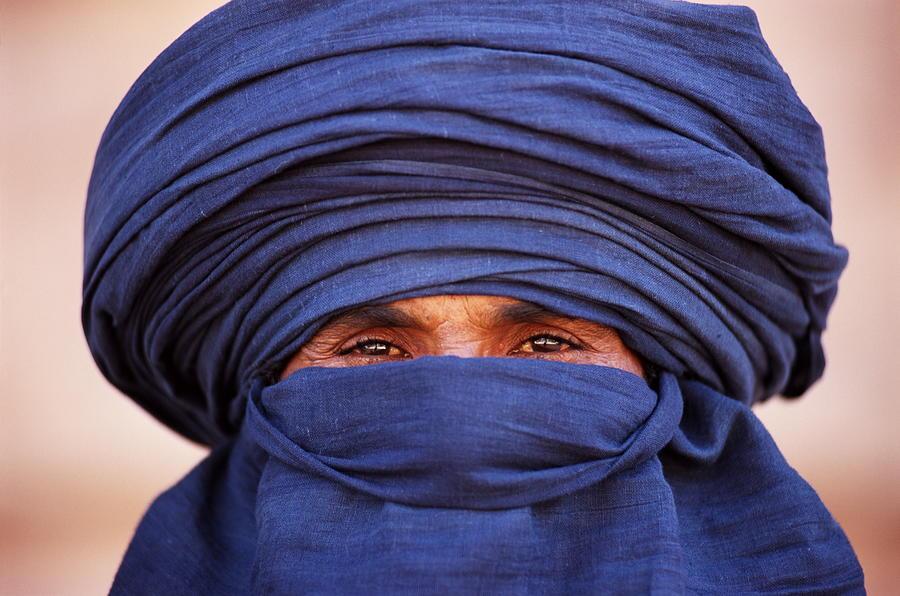Close-up Of Tuareg, Sahara, Algeria Photograph by Frans Lemmens