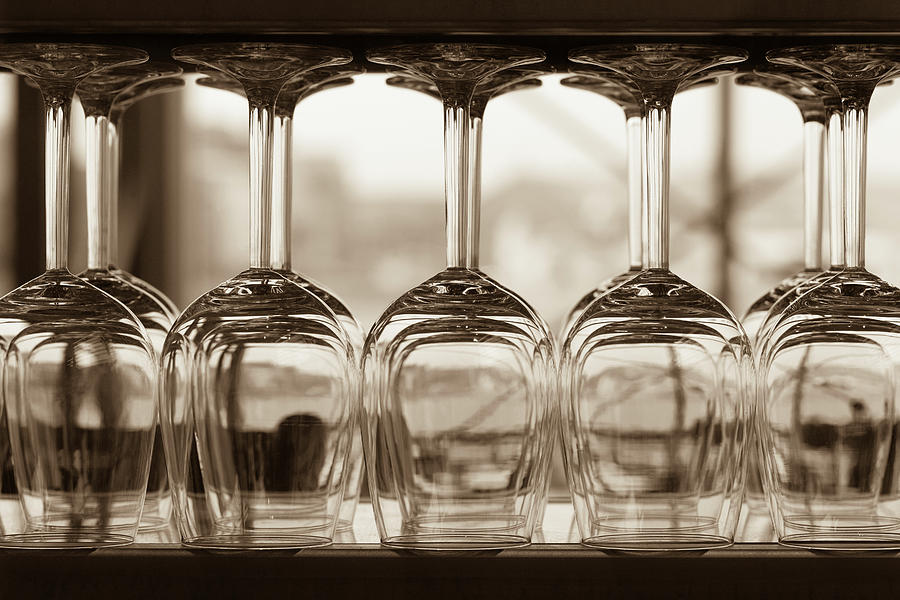 Close-up Of Wine Glasses With Shallow Photograph by 77studio