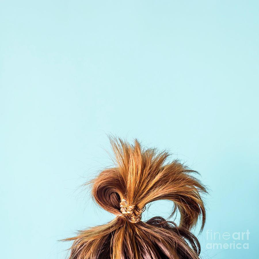 Close-up Of Woman With Hair Bun Photograph by Valeriia Sviridova / Eyeem