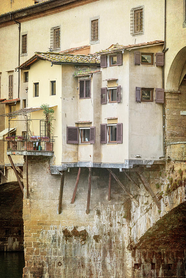 Close Up Ponte Vecchio Florence Italy by Joan Carroll