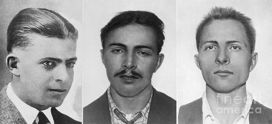 Close Up Portrait Of Dautremont Brothers Photograph by Bettmann
