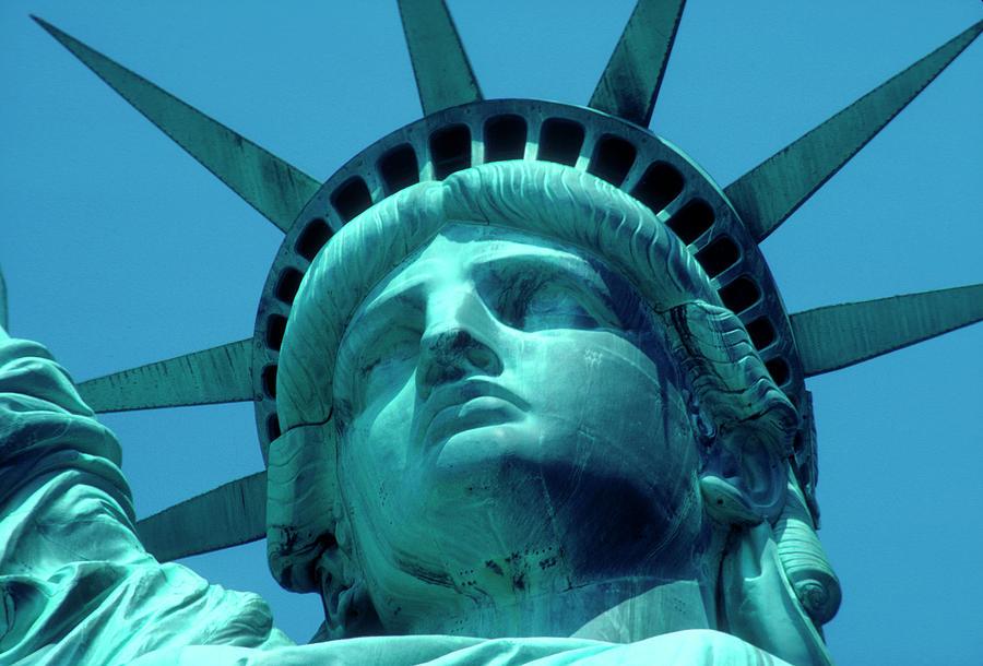 Close-up Portrait Of The Statue Of Photograph by Lyle Leduc